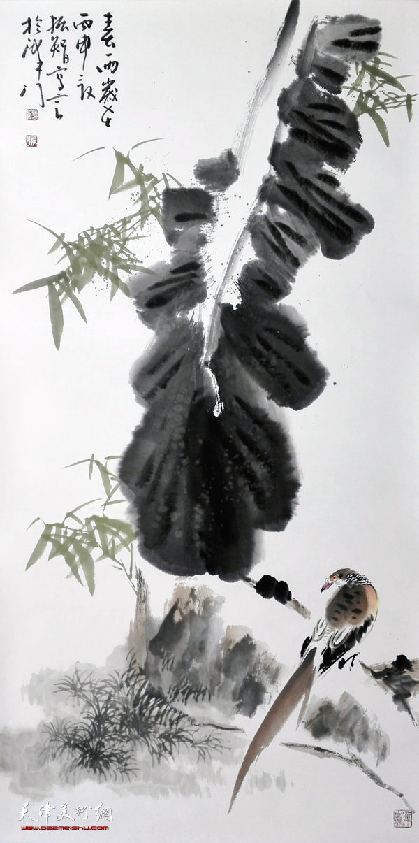 董振智花鸟画作品