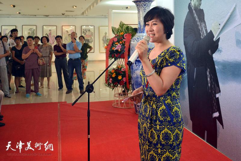 画展开幕仪式由中国传媒大学徐红梅主持。
