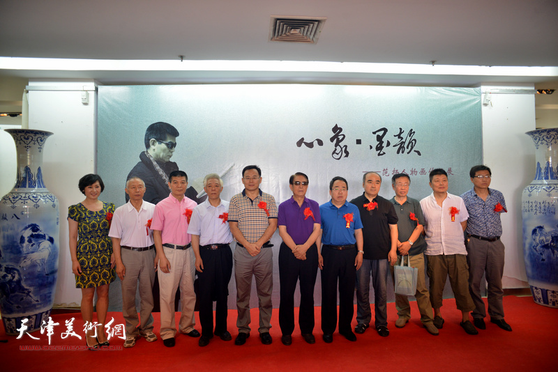 心象·墨韵—范扬中国画作品晋中展开幕仪式现场。