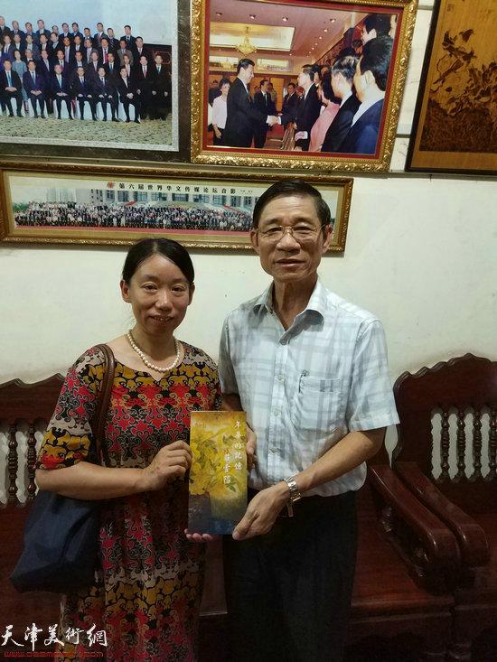 与柬华日报社长黄焕明先生
