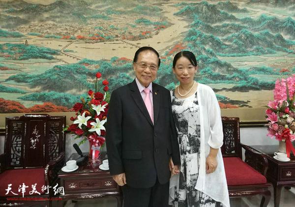 与泰国潮州会馆副主席陈绍扬先生