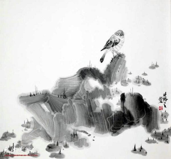 郑伟水墨作品
