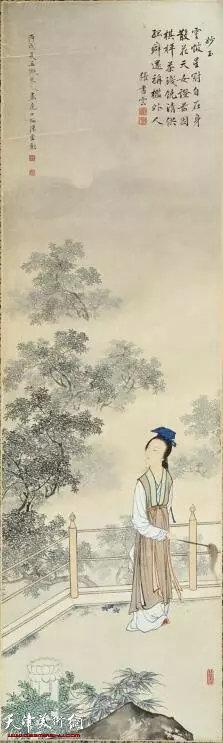 陈少梅《金陵十二钗》系列组画