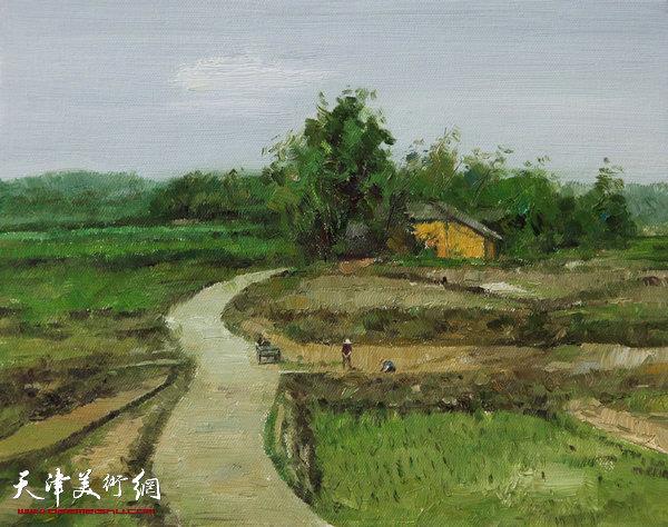 油画《南方的风景之二》杨俊甫39x31cm2017.4