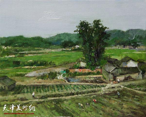 油画《南方的风景之三》杨俊甫39x31cm2017.4