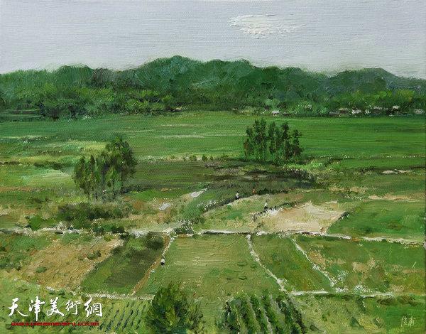 油画《南方的风景之一》杨俊甫39x31cm2017.4