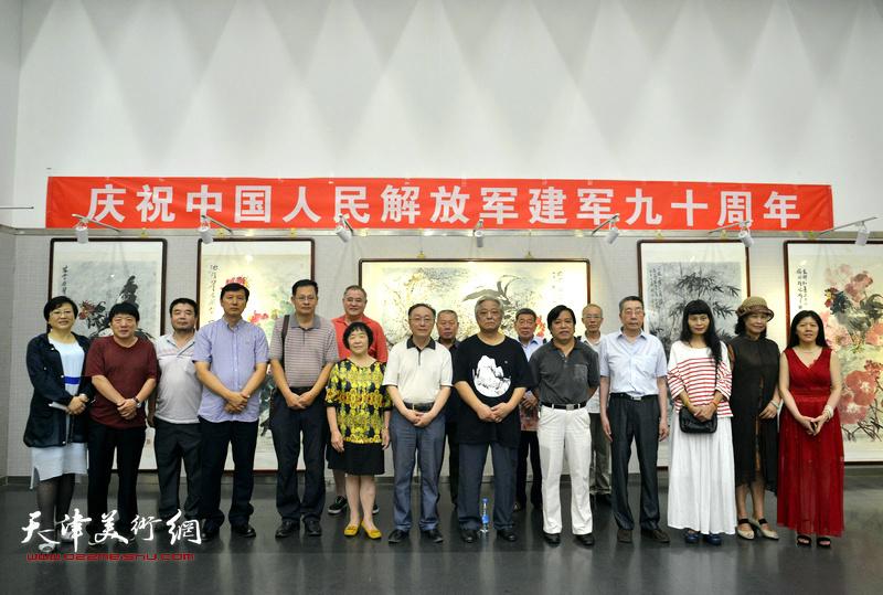 朱荷红莲赤子心—鲁平作品天津展在天津市图书馆开幕