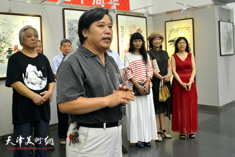 天津美术家协会秘书长李耀春致辞。