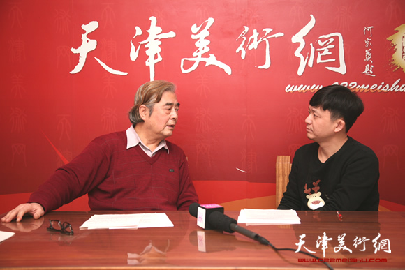 著名2018最新博彩白菜大全家陈连羲做客天津美术网