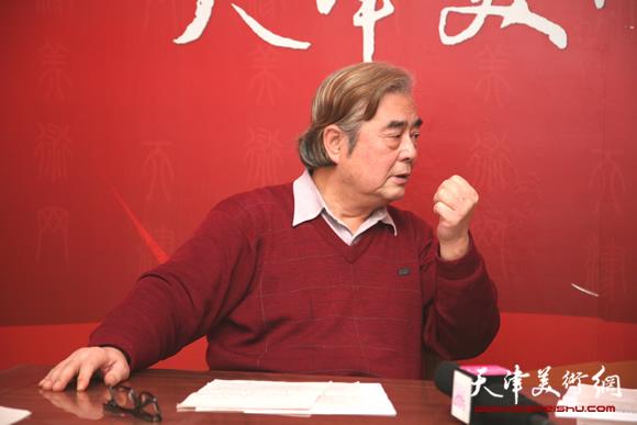 著名书画家陈连羲做客天津美术网