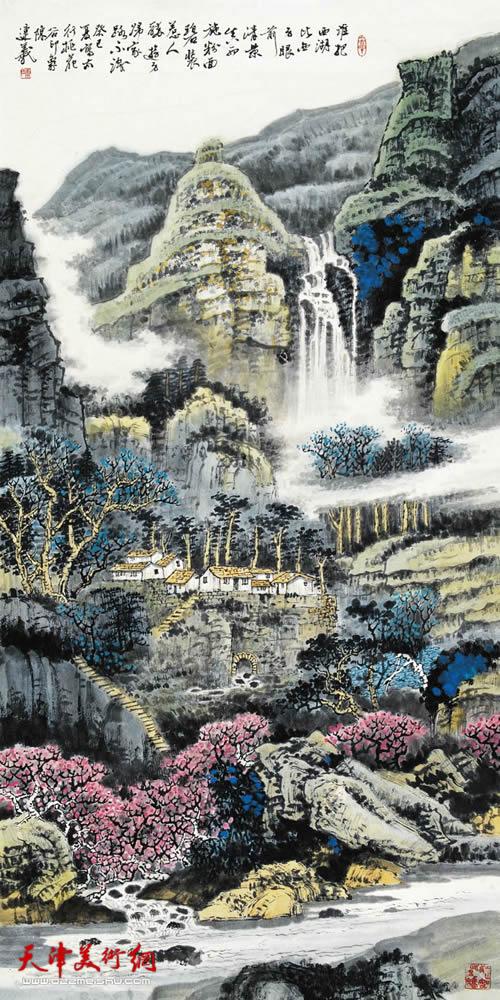 陈连羲作品《太行春景》
