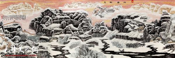 陈连羲作品《北国风光》
