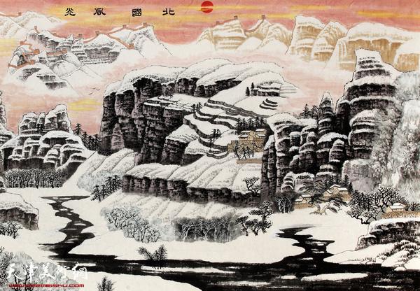 陈连羲作品《北国风光》 (局部)