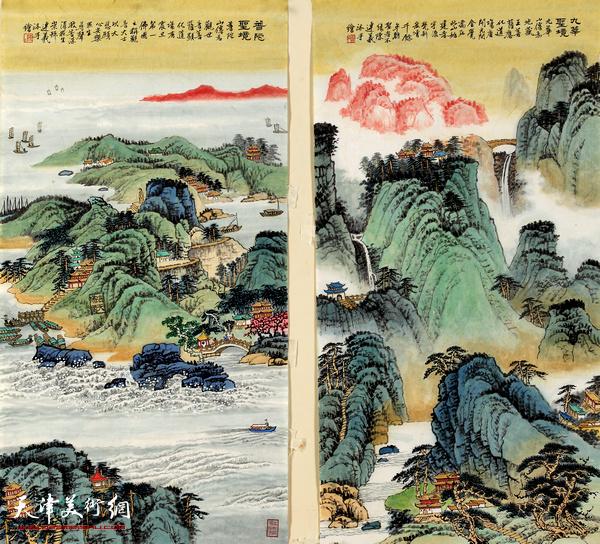 陈连羲作品《佛教四大名山》