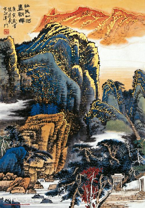 陈连羲作品《壮美山河》