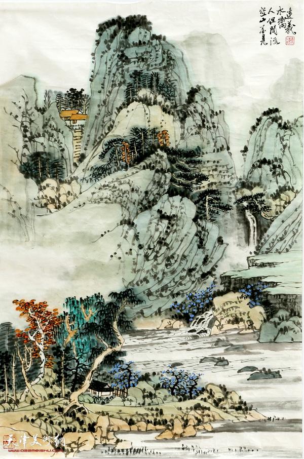 陈连羲作品《空山不见人》