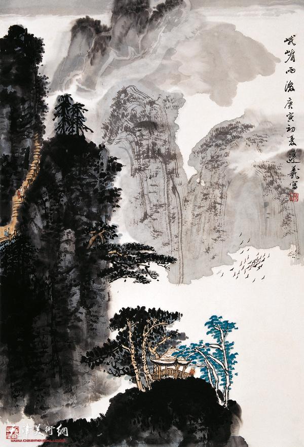 陈连羲作品《峨眉雨后》