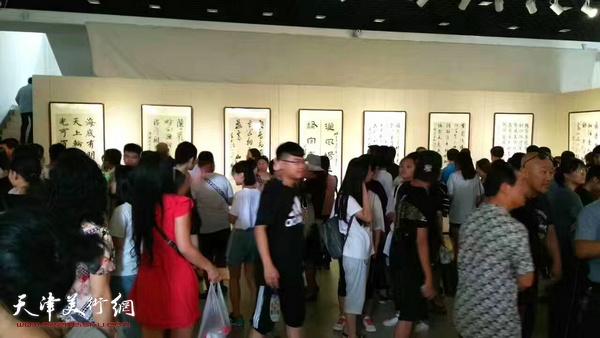"""""""北戴河艺术馆书法名家邀请展""""8日4日在北戴河艺术馆开幕。"""