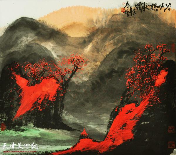 史春坡作品:谷峡横秋霜