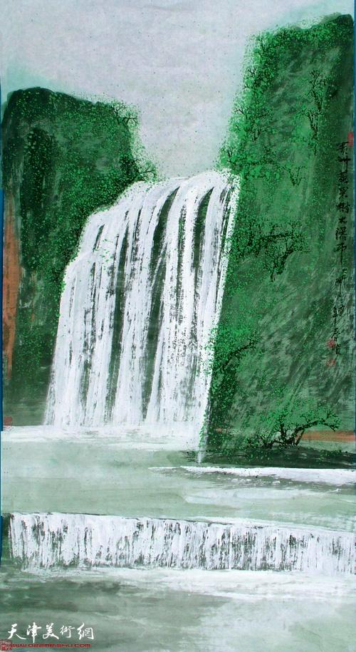 史春坡作品:贵州黄果树大瀑布