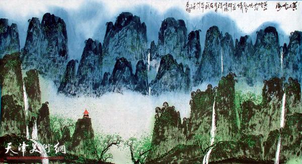 史春坡作品:黄山云烟