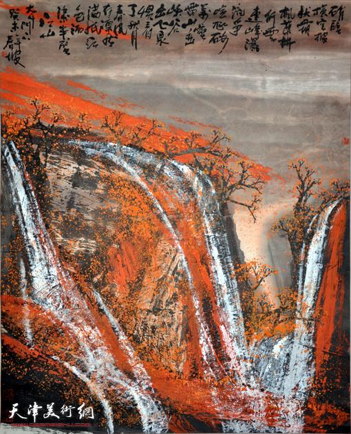 史春坡作品:峭壁横空披秋霜