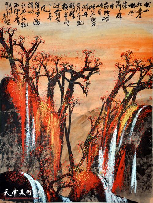 史春坡作品:秋山红遍层林尽