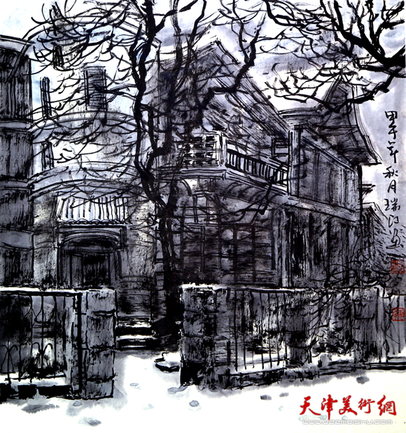 魏瑞江作品《城市的第一场雪》