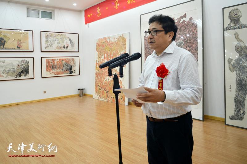 天津市文联党组成员、秘书长商移山致辞