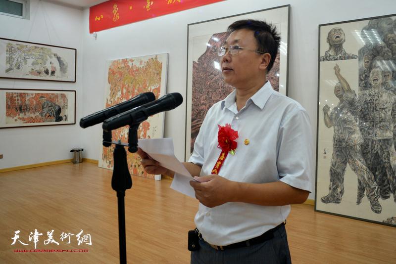 五台山书画院院长王宇健致欢迎词