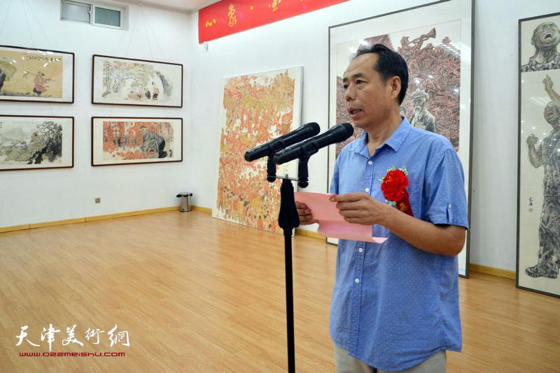 忻州市美协常务副主席杨晓龙宣读贺信、贺电。