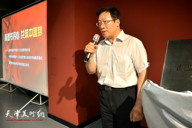 全国人大常委会委员、民盟中央副主席张平宣布展览开幕
