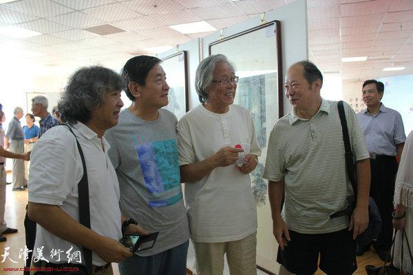左起:刘向东、李炳训、陈冬至、邬海青在开幕式现场