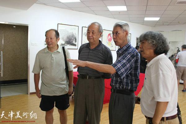 杨德树、王振德、刘向东、邬海青现场交流