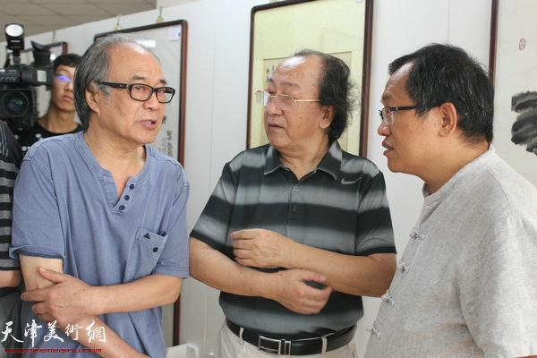 郭书仁、王之海、杨惠东在开幕式现场