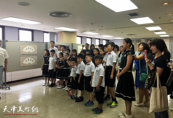 """""""王莹书法世界巡展""""日本站开幕式现场。"""