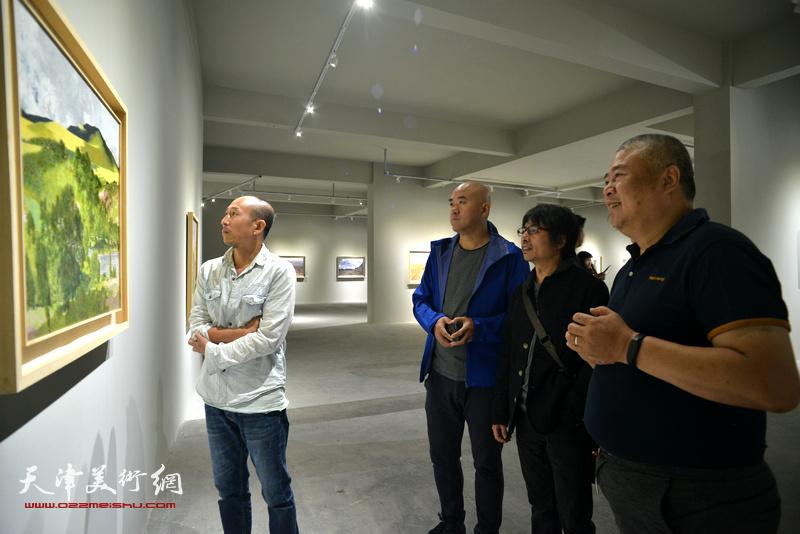 蔚县国际艺术小镇美术馆开展现场。