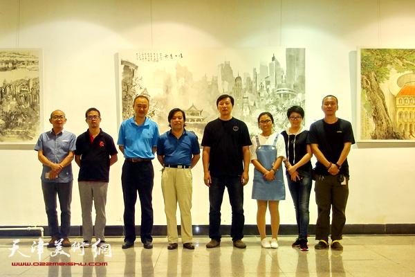 李耀春秘书长、张福有主任与艺术家阚传好、柴博森、任国华、陶学仕、何成顾素文在现场
