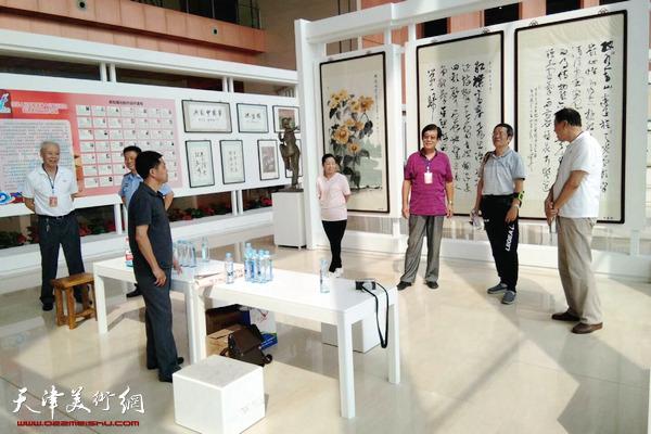 第十三届全运会天津体育文化作品展现场.
