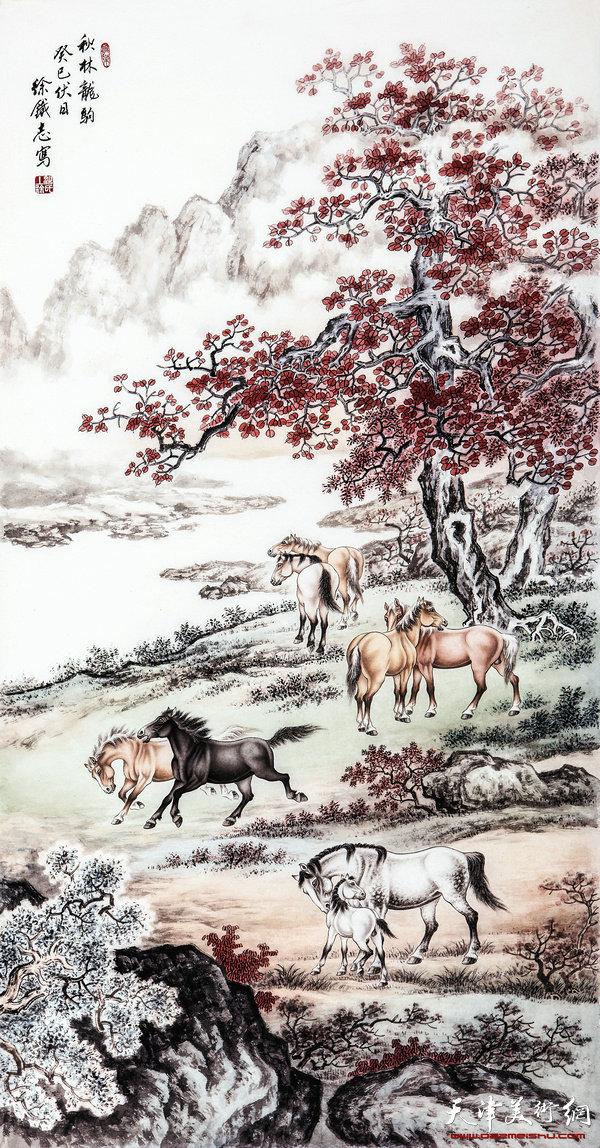徐铁志作品-秋林龙驹