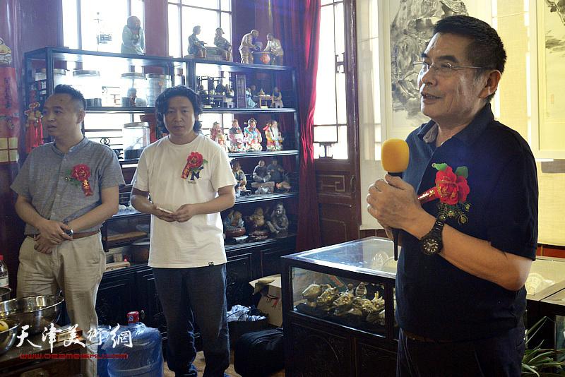 天津美术学院杨沛璋教授致辞。