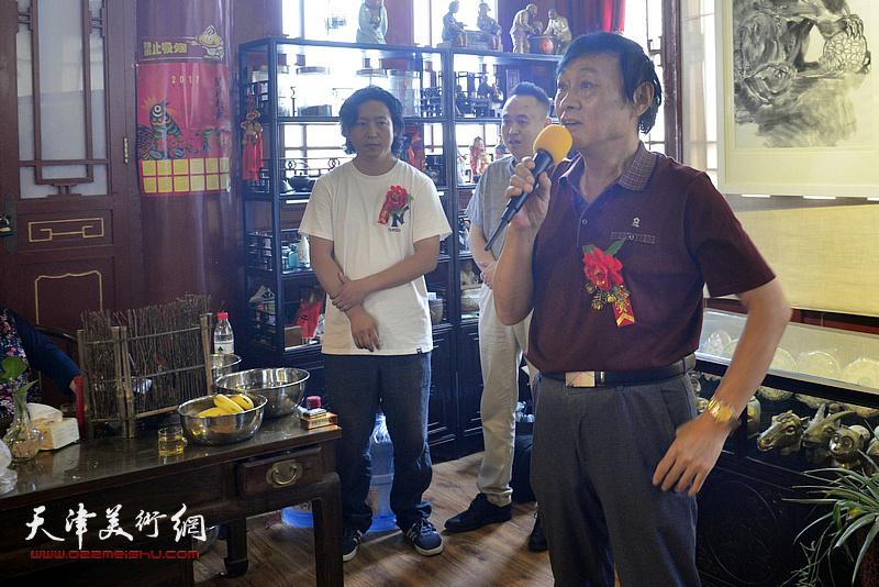 天津美术家协会副主席琚俊雄致辞