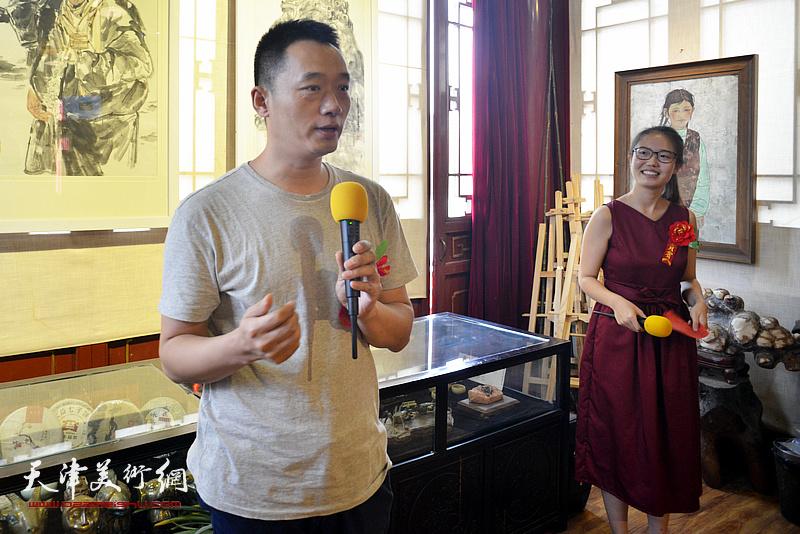 天津美术学院中国画学院副院长周午生致辞