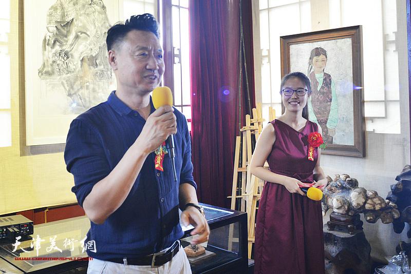 天津美术学院版画系李旺教授致辞。