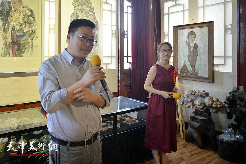天津商业大学艺术学院副院长王俊琪致辞