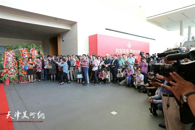 """""""翰墨流声—沈德强、李军个人书画展""""开幕仪式现场。"""