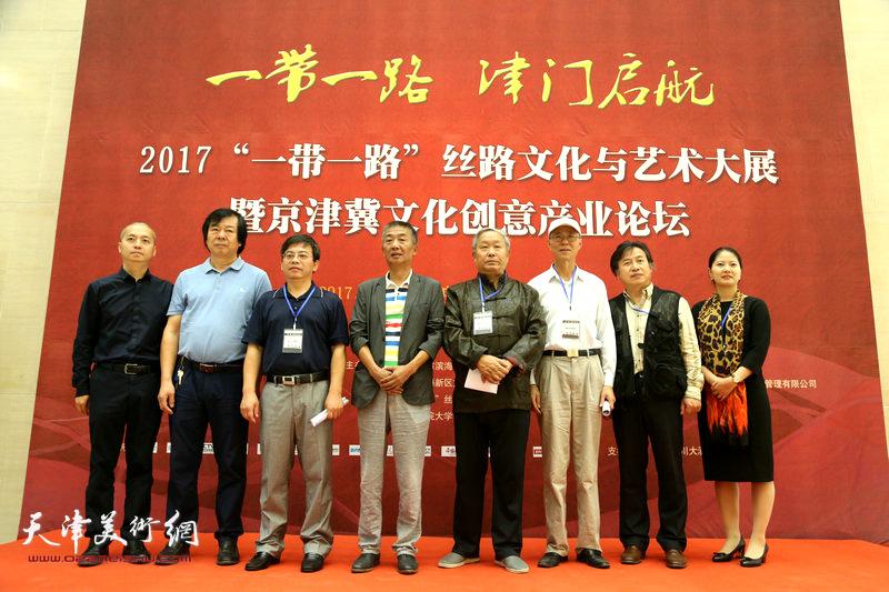 """""""一带一路·丝路天津大展""""10月1日在天津滨海文化中心滨海美术馆开幕。"""