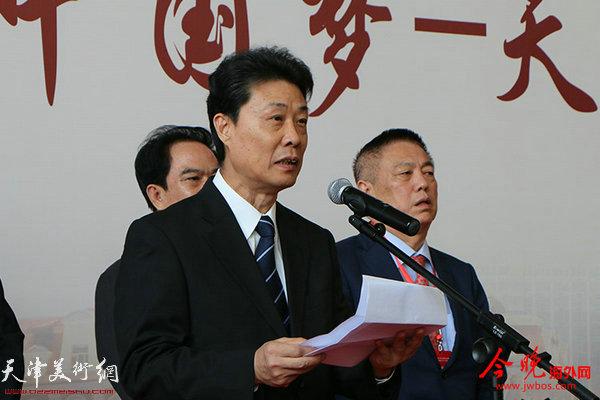 中国侨联副主席、天津市侨联党组书记胡胜才致辞。
