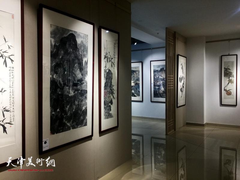 中国画名家邀请展现场。