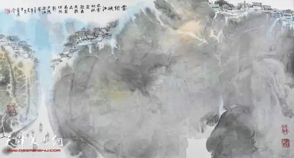 黄美尧作品:雾锁峡江